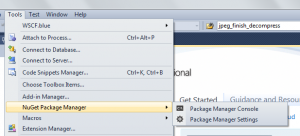 VS2010NuGetPackageManager