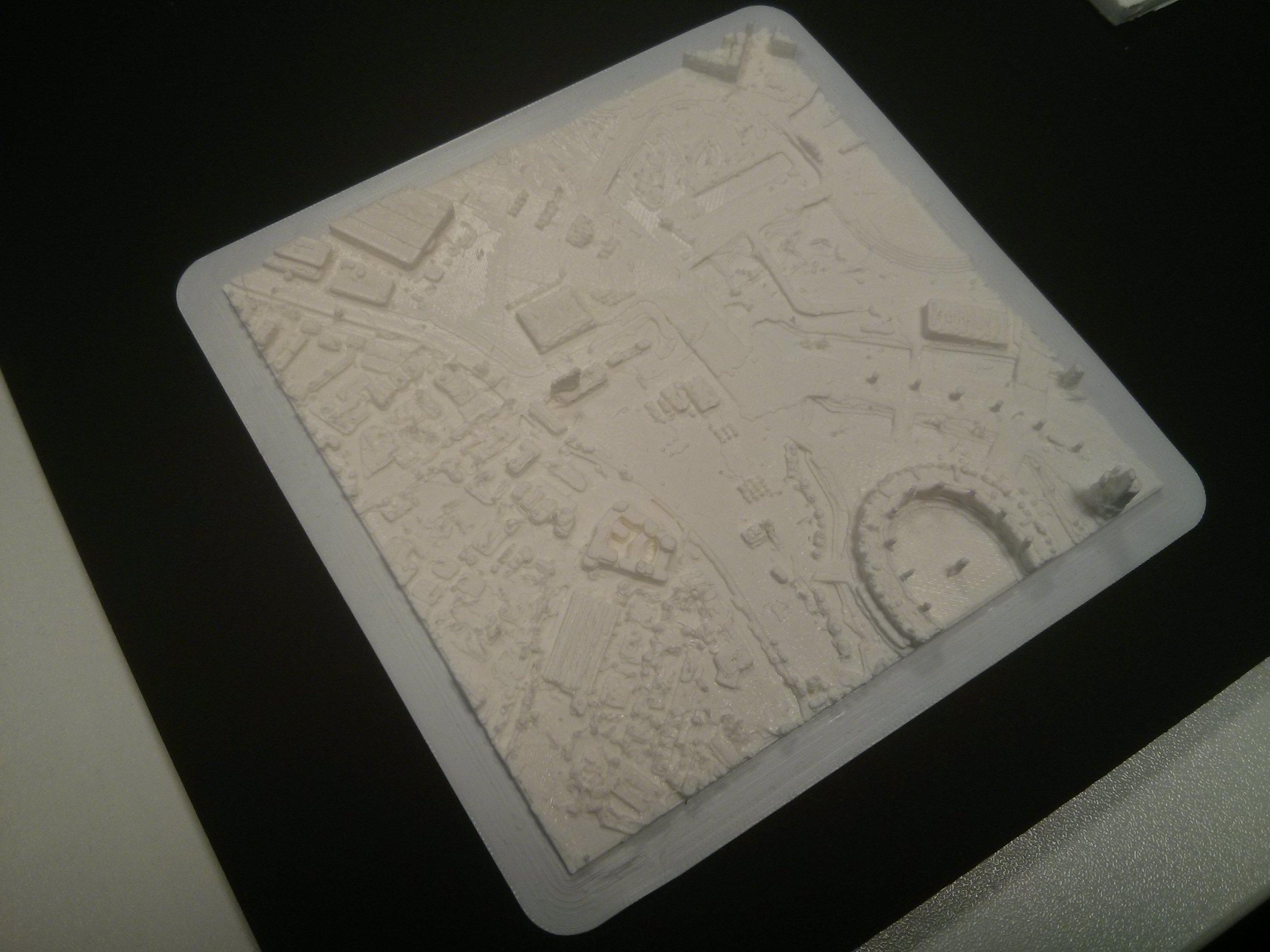 3d Terrain Map Of Uk.3d Printing The Environment Agency Lidar Data Maptube
